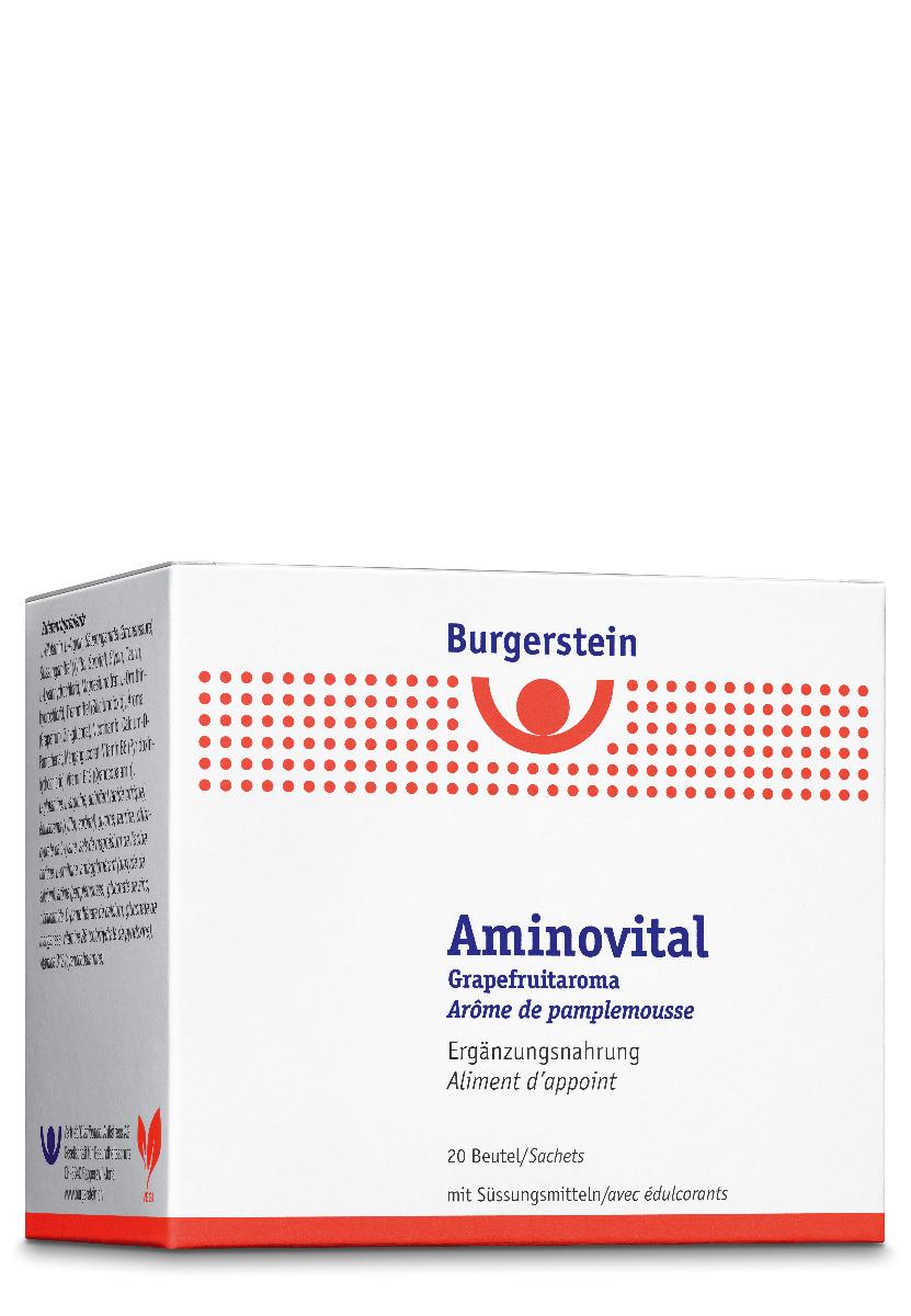 BURGERSTEIN Aminovital Plv Grapefruitarom 20 Btl