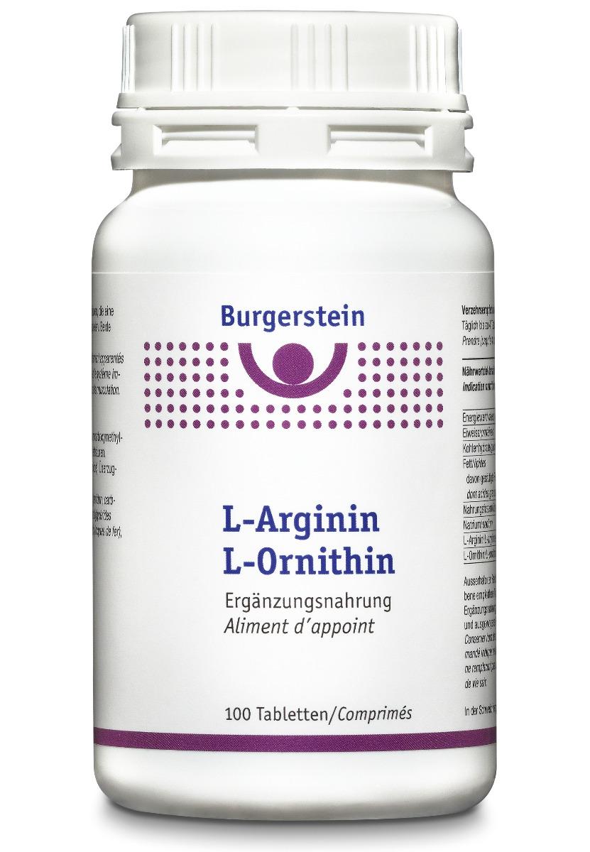 BURGERSTEIN L-Arginin/L-Ornithin Tabl 100 Stk