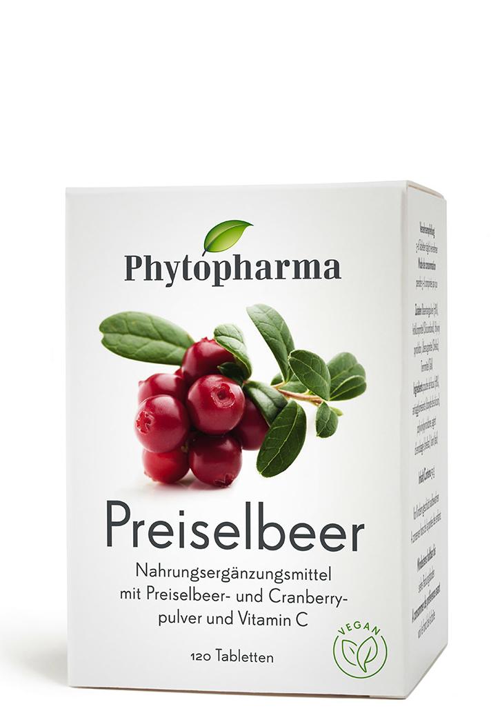 PHYTOPHARMA Preiselbeer Tabl-120 Tabletten