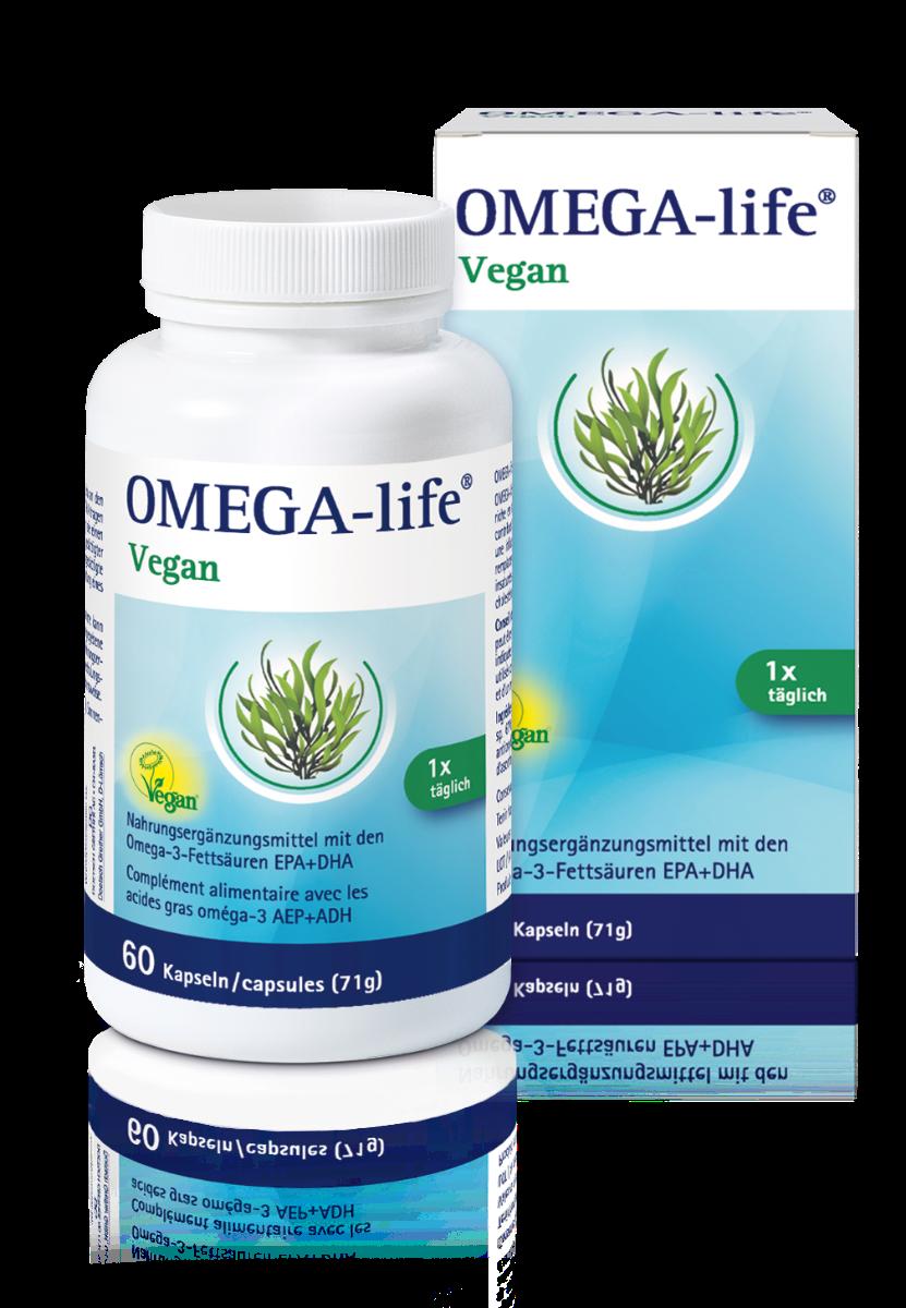 OMEGA-LIFE Vegan Kaps Ds 60 Stk