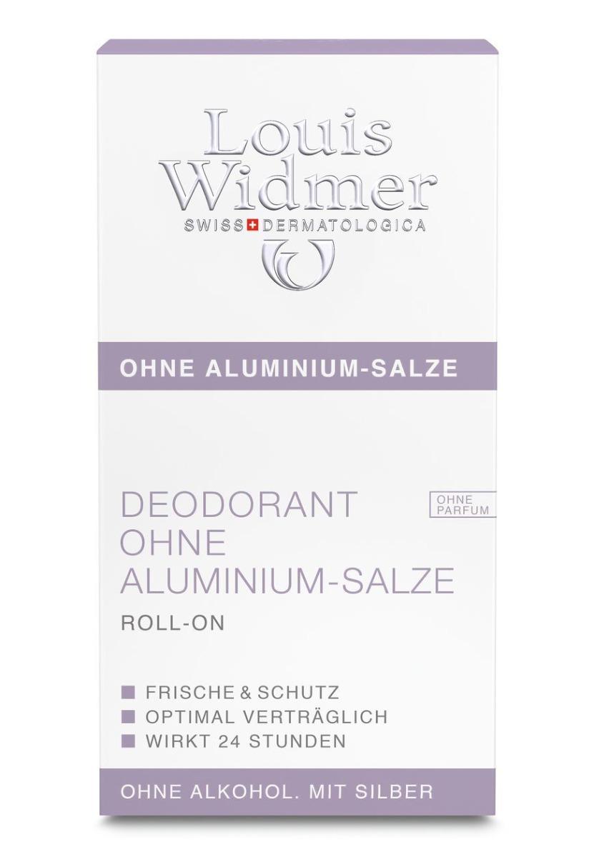 Louis Widmer Deo ohne Aluminium mit Silber Roll on 50ml-ohne Parfüm