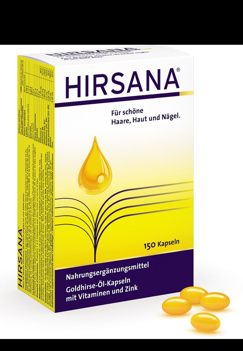 HIRSANA Goldhirse-Öl-Kapseln-150 Kapseln