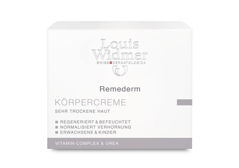 Louis Widmer remederm Körpercreme Topf 250ml-leicht Parfümiert