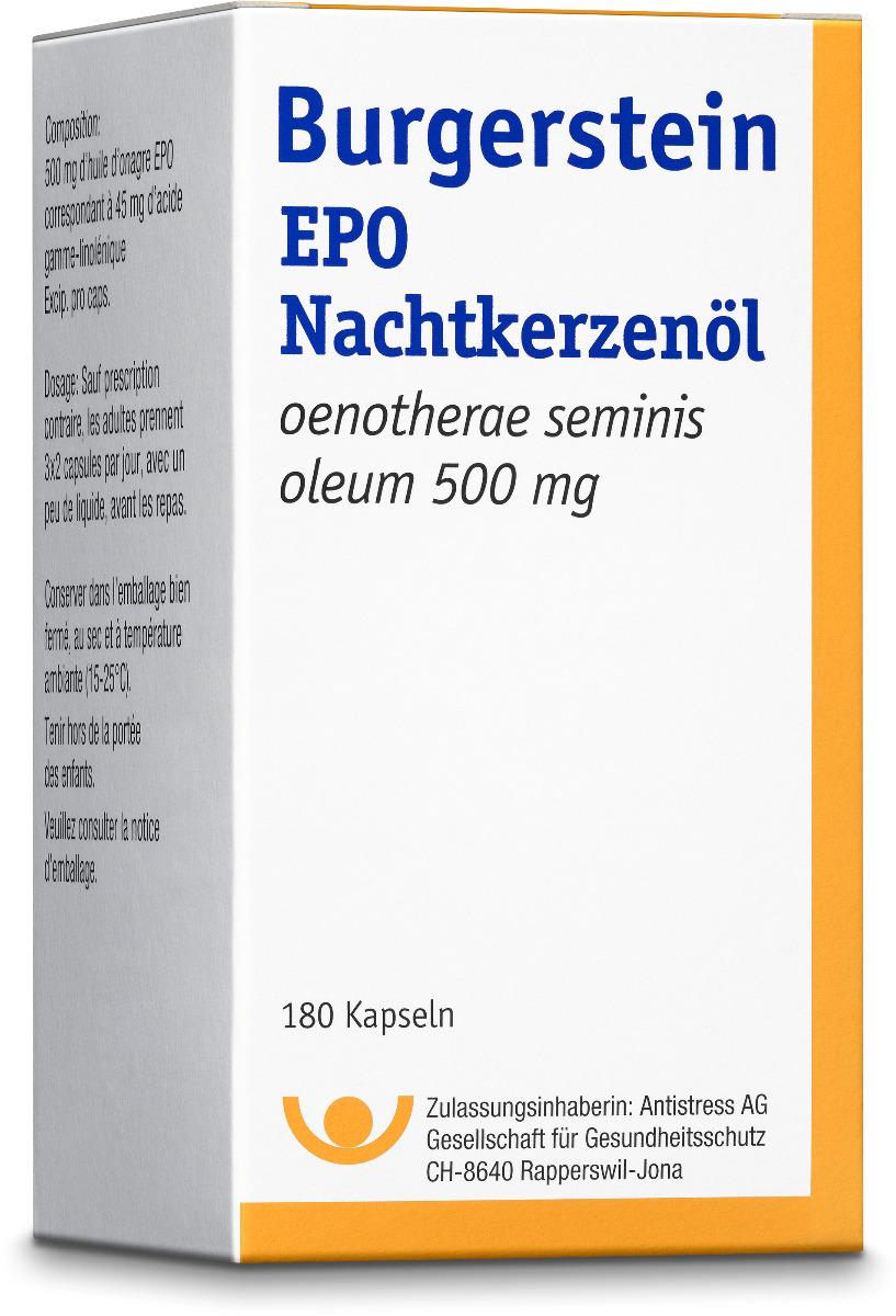 BURGERSTEIN EPO Kaps 500 mg 180 Stk
