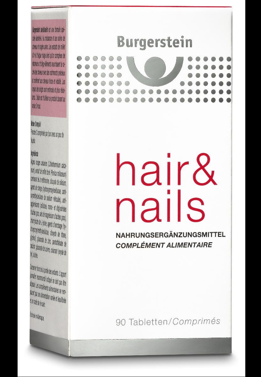 BURGERSTEIN Hair & Nails Tabl-90 Tabletten